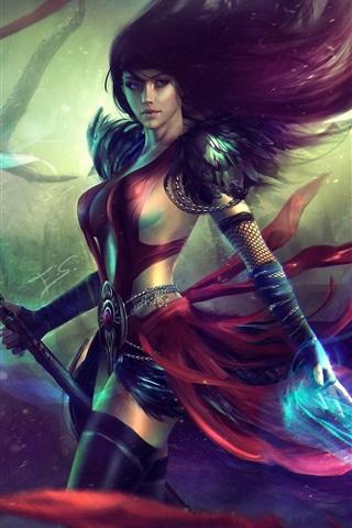 iPhone Papéis de Parede Guild Wars 2, menina bonita, magia
