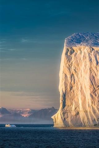 iPhone Wallpaper Iceberg, sea, morning