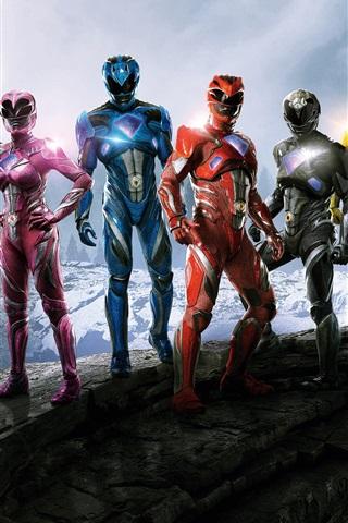 iPhone Wallpaper Power Rangers 2017 movie HD