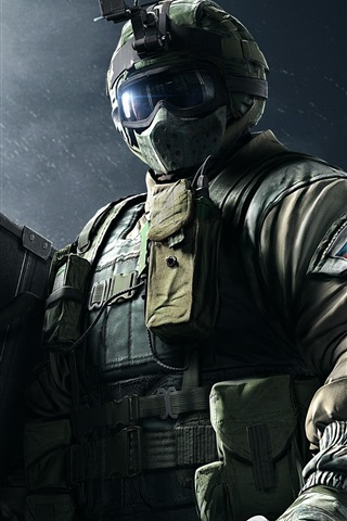 iPhone Wallpaper Rainbow Six, Special forces, soldier