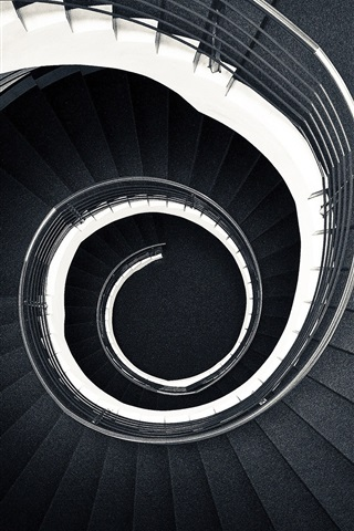iPhone Wallpaper Stairs, spiral