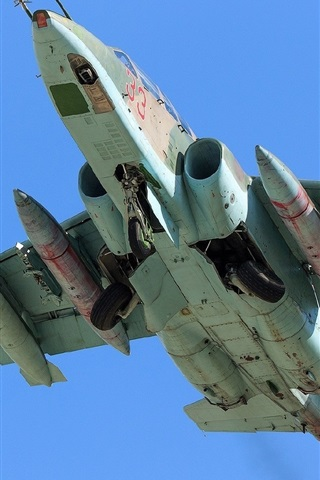 iPhone Wallpaper Su-25 attack fighter, chassis view