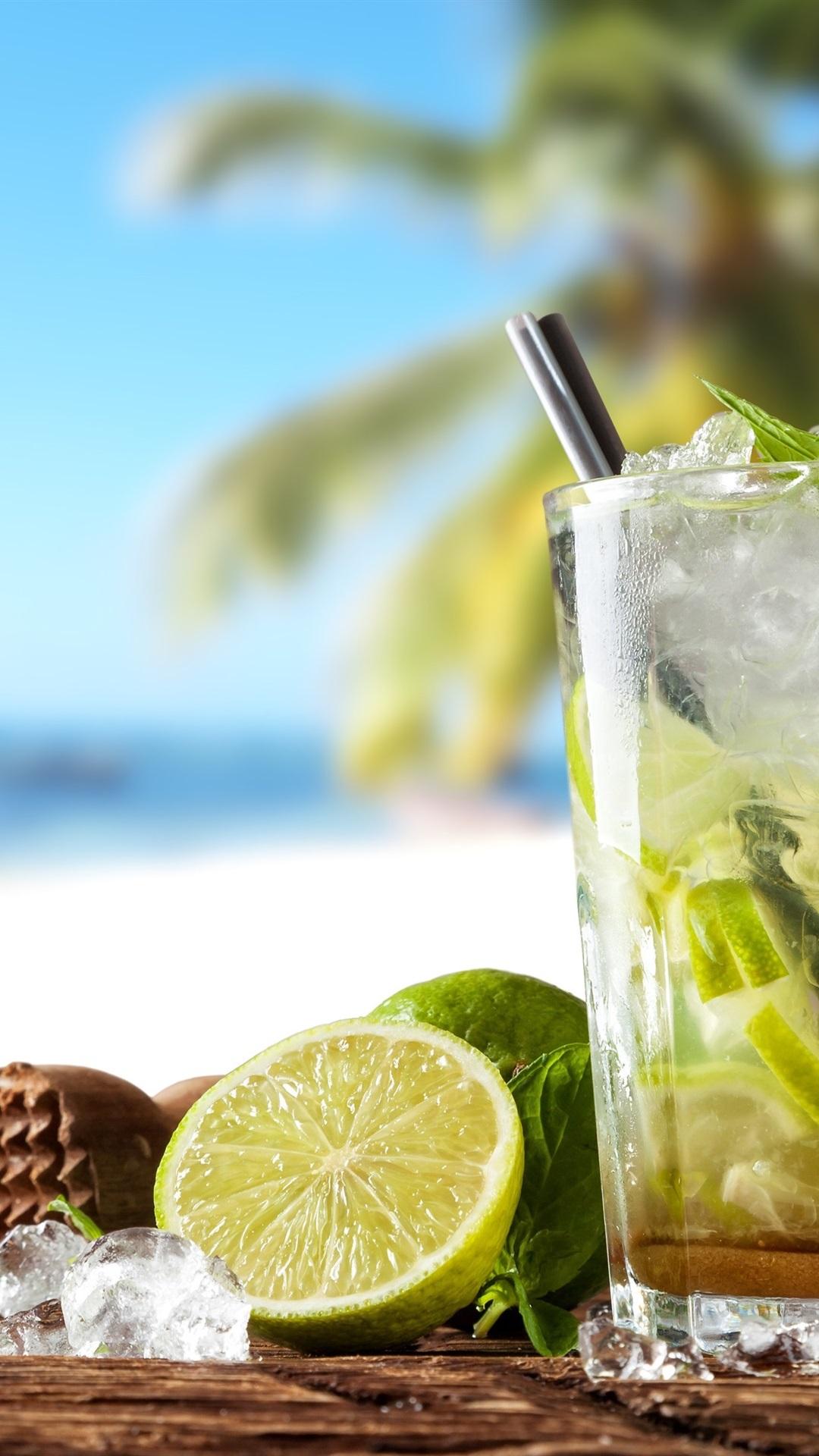Sommergetränke, Cocktail, Mojito, Limette, Minze Hintergrundbilder ...