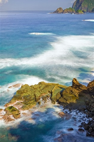 iPhone Wallpaper Summer, sea, coast, nature
