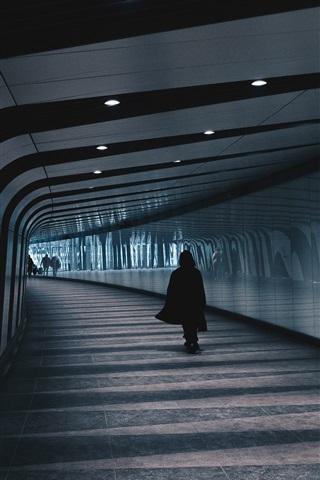 iPhone Wallpaper Underground, tunnel