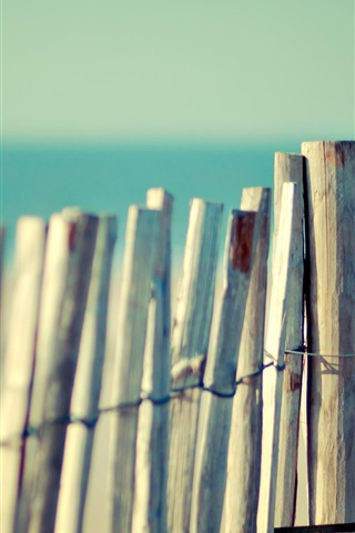 iPhone Wallpaper Wooden fence close-up