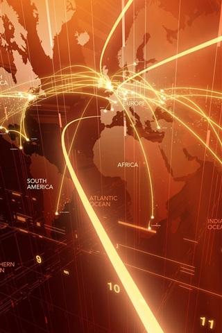iPhone Papéis de Parede Resumo do mapa do mundo, leve