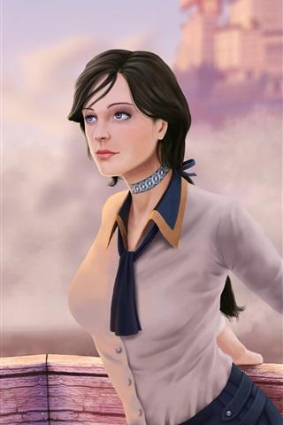 iPhone Papéis de Parede Bioshock Infinito, Elizabeth, linda garota, foto de arte