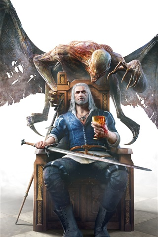 iPhone Wallpaper Classic games, The Witcher 3: Wild Hunt