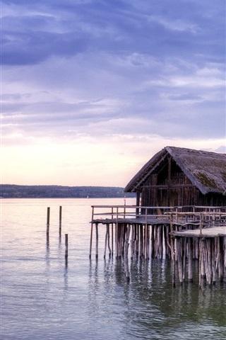 iPhone Wallpaper Coast, sea, huts