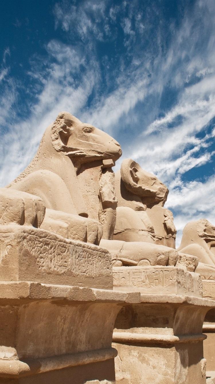 Egypt Sculptures Desert 750x1334 Iphone 8 7 6 6s Wallpaper