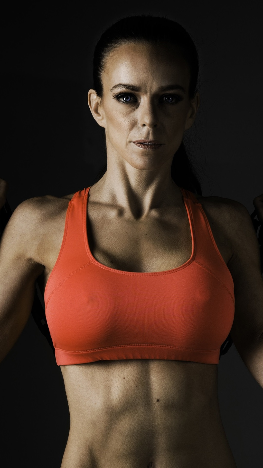 Wallpaper Fitness Women Workout Metal Chain 3840x2160 Uhd