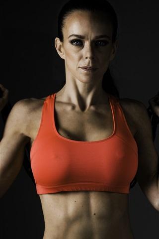 iPhone Wallpaper Fitness women, workout, metal chain