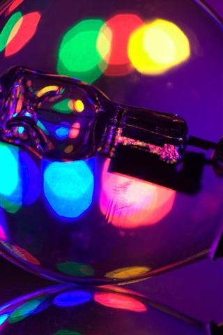 iPhone Wallpaper Lamp, colorful glare