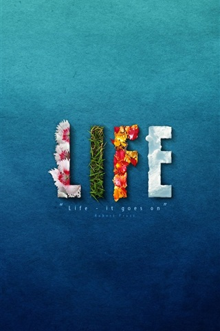 Life Blue Background Creative Design 640x1136 Iphone 5 5s 5c Se