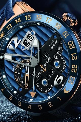 iPhone Wallpaper Luxury watch, Ulysse Nardin, arrow, time