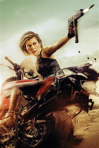 iPhone Wallpaper Milla Jovovich, Resident Evil