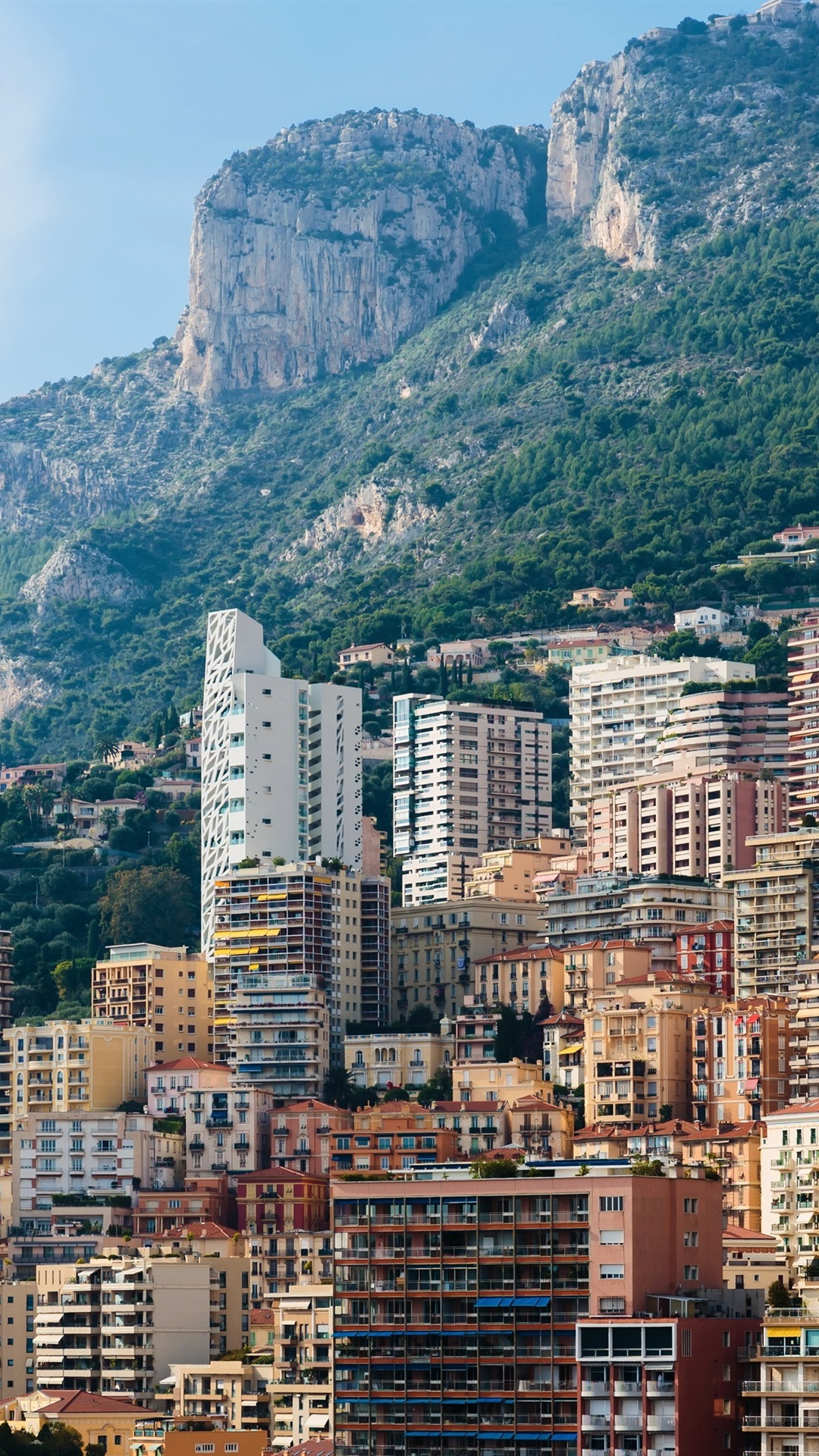 Wallpaper Monaco Monte Carlo Mountains Rocks City Houses 3840x2160 Uhd 4k Picture Image