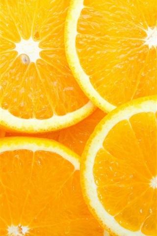 iPhone Wallpaper Orange slices, delicious fruit
