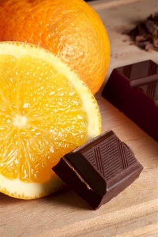 iPhone Wallpaper Oranges and chocolate
