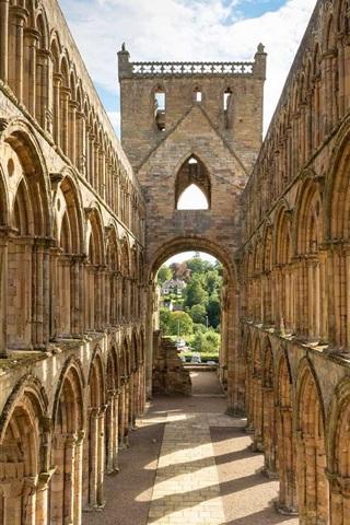 iPhone Wallpaper Scotland, architecture, ruins, abbey