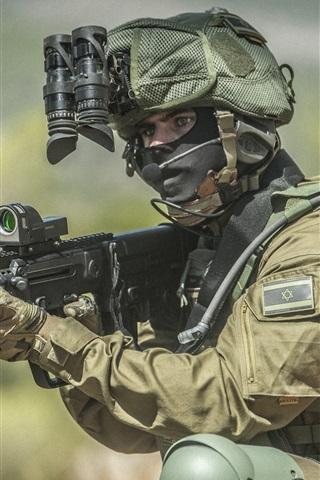 iPhone Wallpaper Soldiers, weapon, equipment