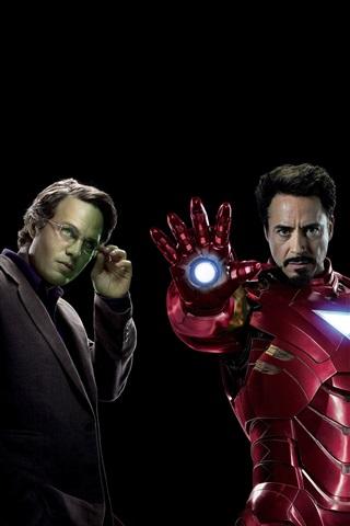 iPhone Обои Мстители, супергерои, черный фон