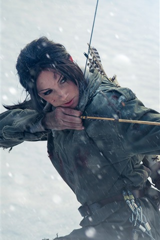 iPhone Wallpaper Tomb Raider, Lara Croft, cosplay girl