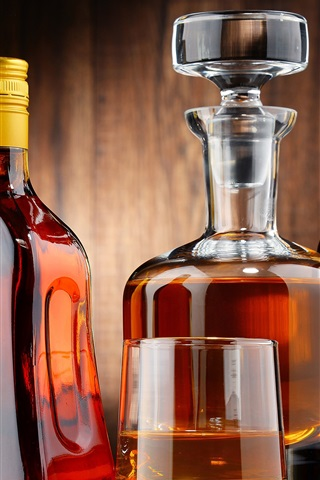 iPhone Wallpaper Alcohol drinks, whiskey, bottle