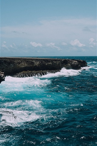 iPhone Wallpaper Bonaire island, Caribbean, Netherlands, sea