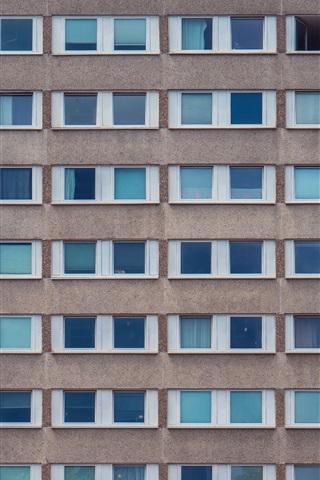 iPhone Wallpaper Buildings, houses, wall, windows