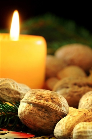 Candle Nuts Box Christmas Decoration 640x1136 Iphone 5 5s
