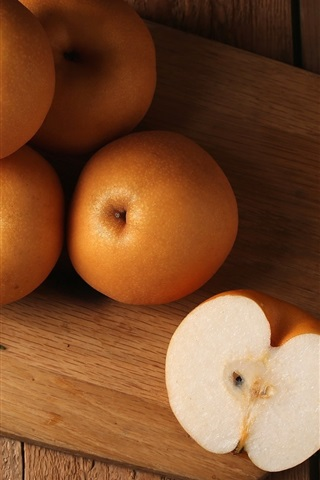 iPhone Wallpaper Chinese pear, fruit close-up