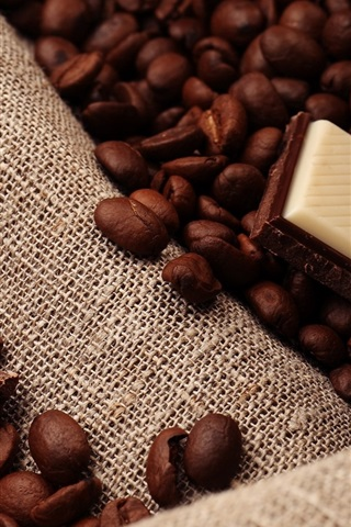 iPhone Wallpaper Chocolate, coffee beans