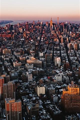 iPhone Wallpaper City top view, skyscrapers, buildings