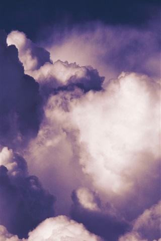 iPhone Wallpaper Clouds, sky, dusk