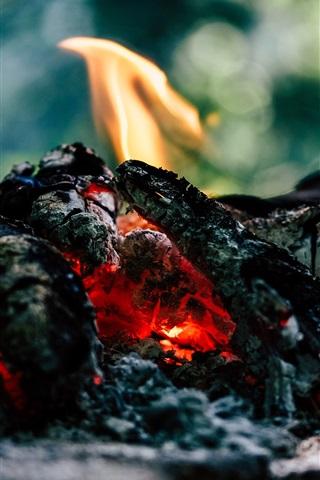 iPhone Wallpaper Coal, fire