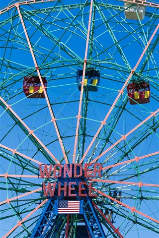 iPhone Wallpaper Ferris wheel, entertainment, USA