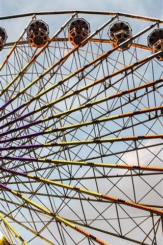 iPhone Wallpaper Ferris wheel, lights