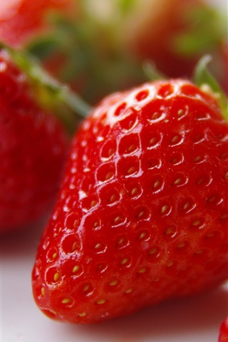 iPhone Wallpaper Fresh strawberry, fruit close-up