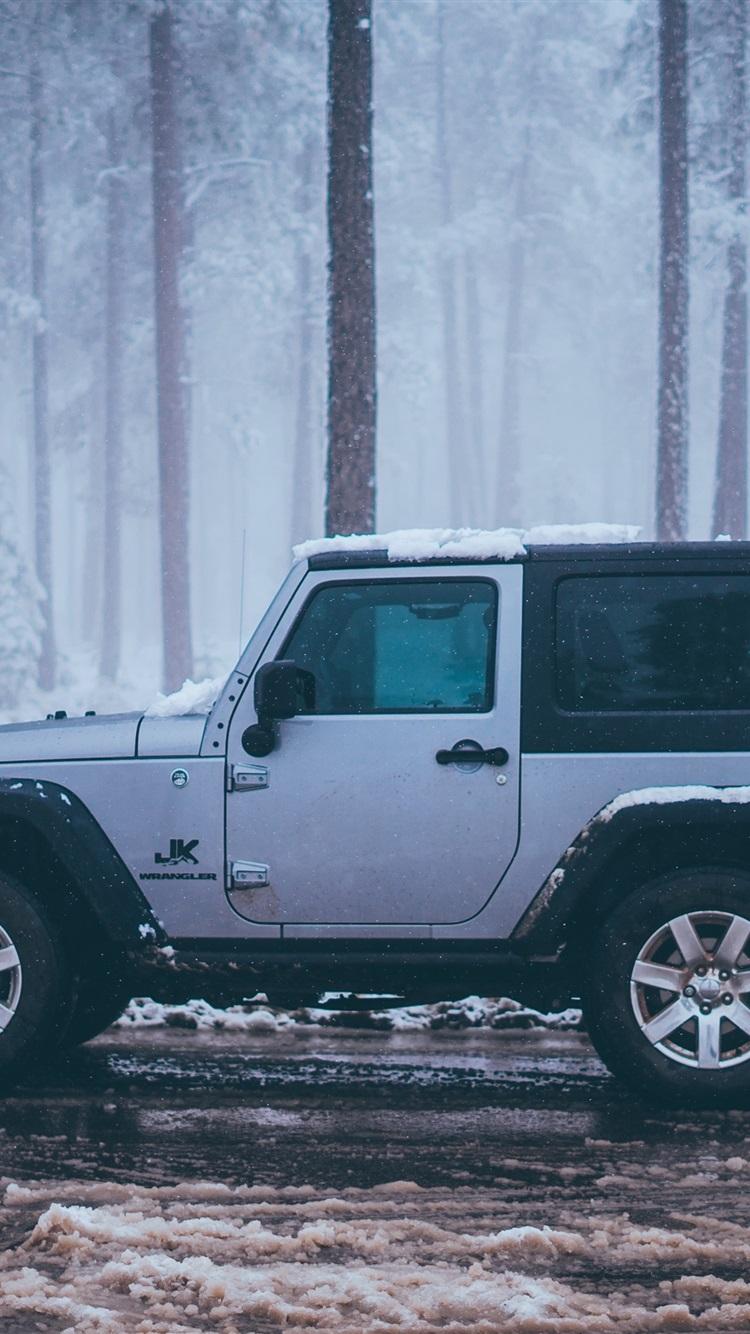 壁纸 吉普jk牧马人车侧视图,雪,冬天 3840x2160 Uhd 4k 高清壁纸 图片 照片