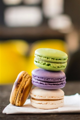 iPhone Wallpaper Macaron, biscuits, dessert, drinks