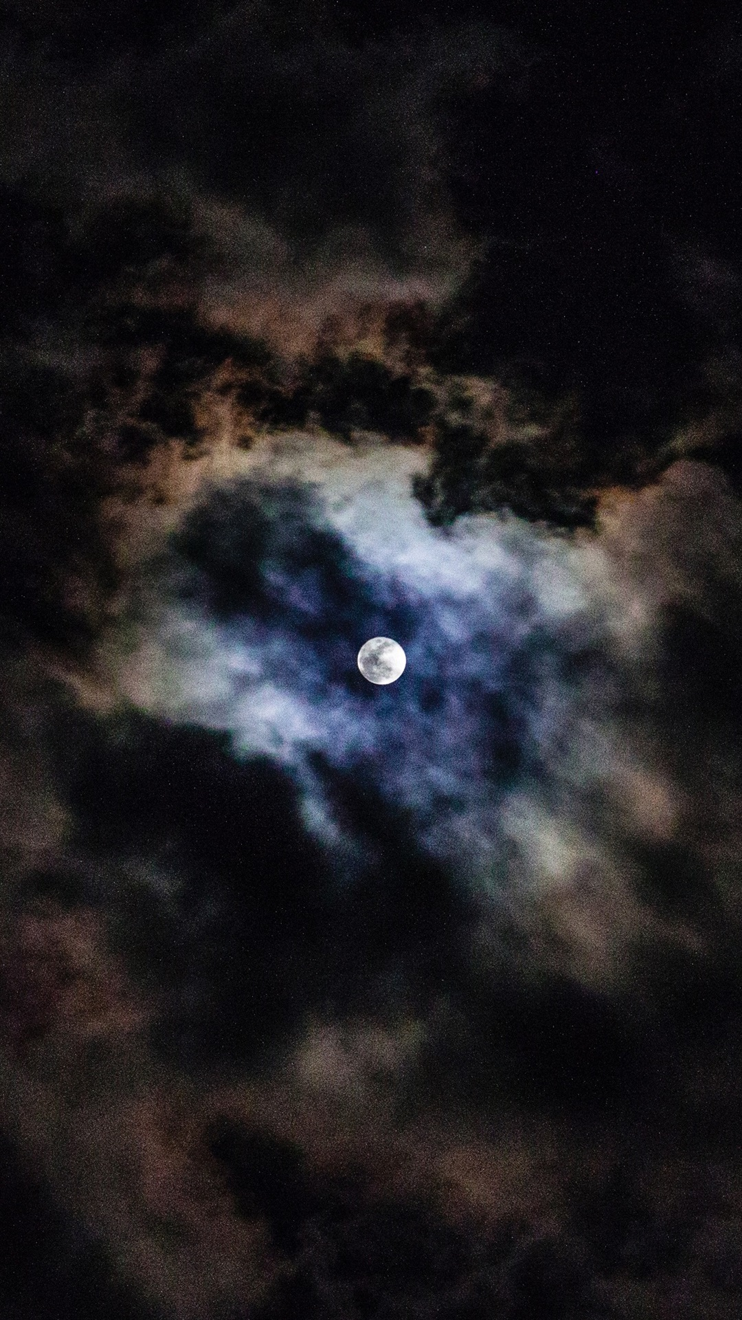 Moon Clouds Sky Night 1080x1920 Iphone 8 7 6 6s Plus