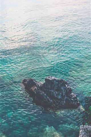 iPhone Wallpaper Ontario, Canada, sea, rocks
