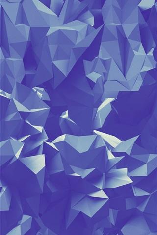 iPhone Papéis de Parede Dobras de papel, triângulos abstratos geométricos