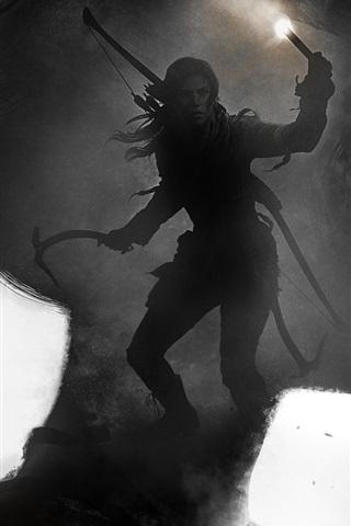 iPhone Papéis de Parede Rise of the Tomb Raider, Lara Croft, foto de arte
