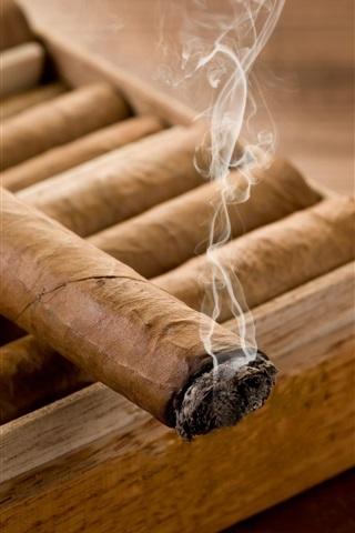 iPhone Wallpaper Smoke, cigars