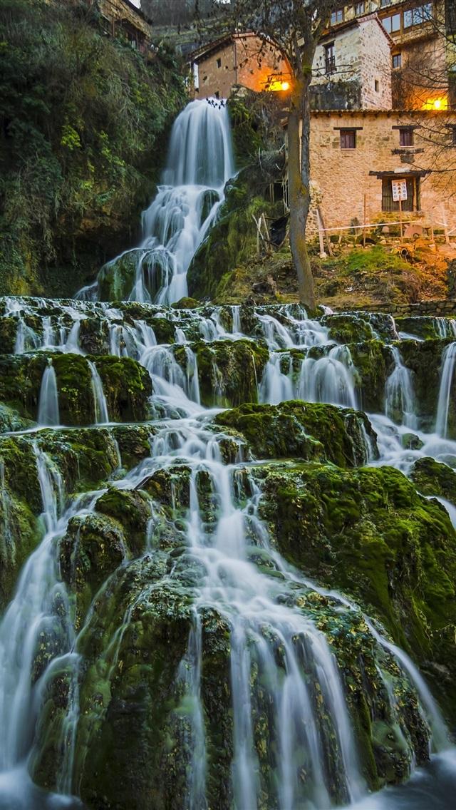 Wallpaper spain burgos waterfalls beautiful nature - Nature wallpaper 4k iphone ...