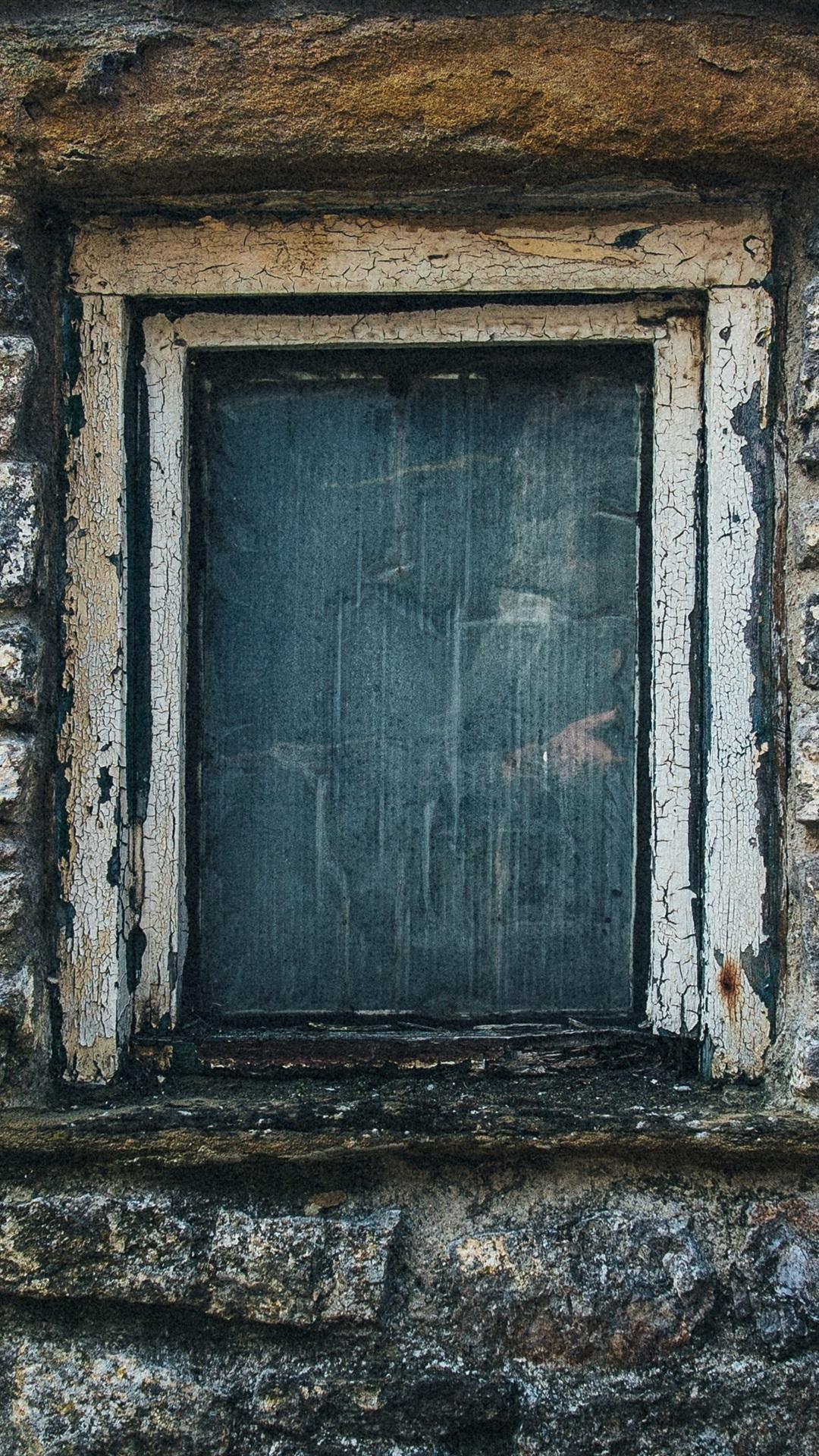 石の壁 窓 1080x1920 Iphone 8 7 6 6s Plus 壁紙 背景 画像