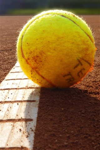 iPhone Wallpaper Tennis on ground, sun rays